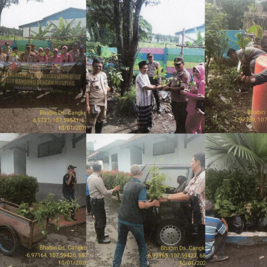Peduli Penghijaun POLSEK Dayeuhkolot, POLRESTA Bandung Bersama MUSPIKA Kecamatan Dayeuhkolot Kabupat